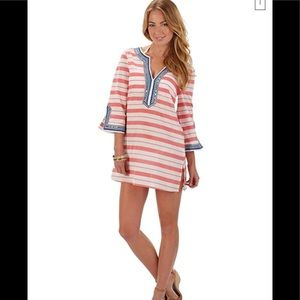 Mudpie Tunic Red and White Striped Cotton Size L